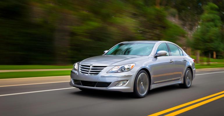 Hyundai Genesis sedan debuted in US in 2008