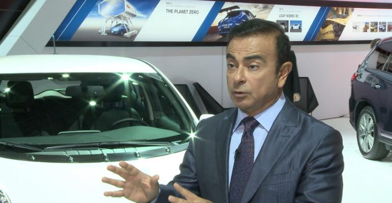 Ghosn Auto makers need volume of at least 8 million vehicles to go it alone on product development
