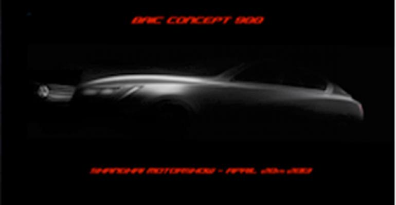 BAIC Concept 900 to Be Unveiled at Shanghai Show Uses Mercedes Architecture