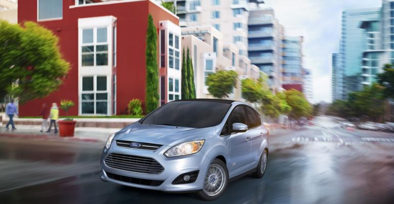Advancedtechnology vehicles such as Ford CMax Energi boost auto makersrsquo fuel economy