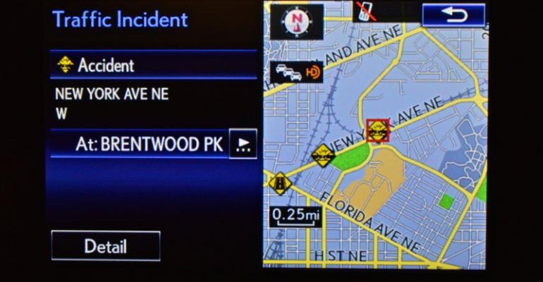 Lexus IS displays realtime traffic and weather information via HD radio