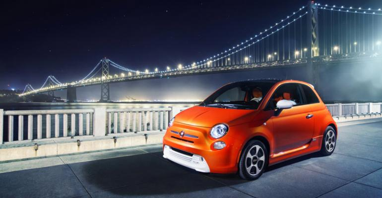 rsquo14 Fiat 500e is Chryslerrsquos only electric vehicle