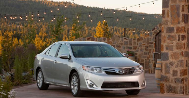 Toyota Camry last redesigned in fall 2011