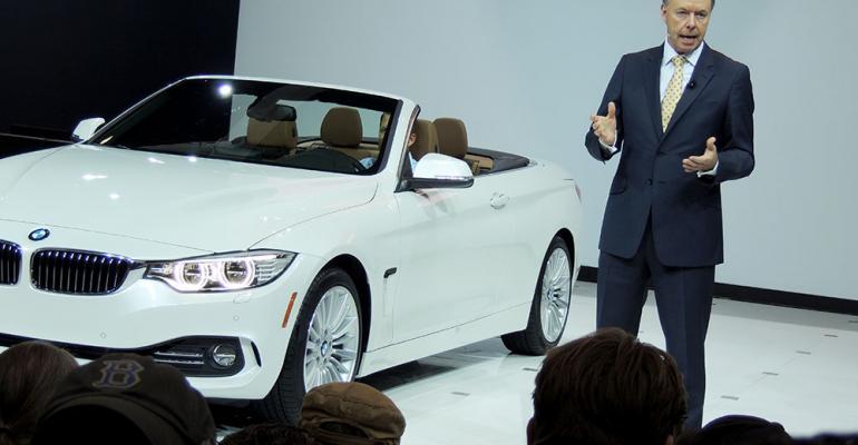 BMW board member Ian Robertson speaks at 4Series convertible unveiling