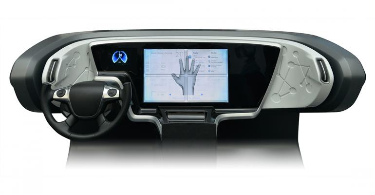 Visteon Innovation Center features include Horizon Cockpit concept using 3D system that maps driver39s gestures through kinematic spatial hand then replicates motion as a virtual handrdquo shown on centerstack display