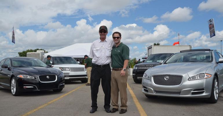 Warren Henry Zinn and son Larry at local Jaguar Land Rover event
