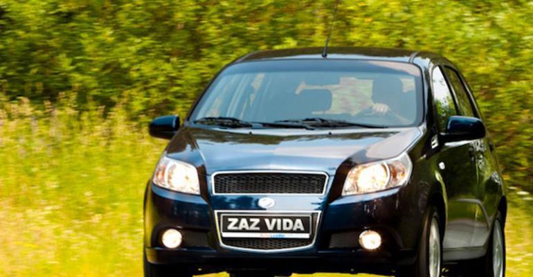 Rebadged Chevrolet Aveo sold as ZAZ Vida