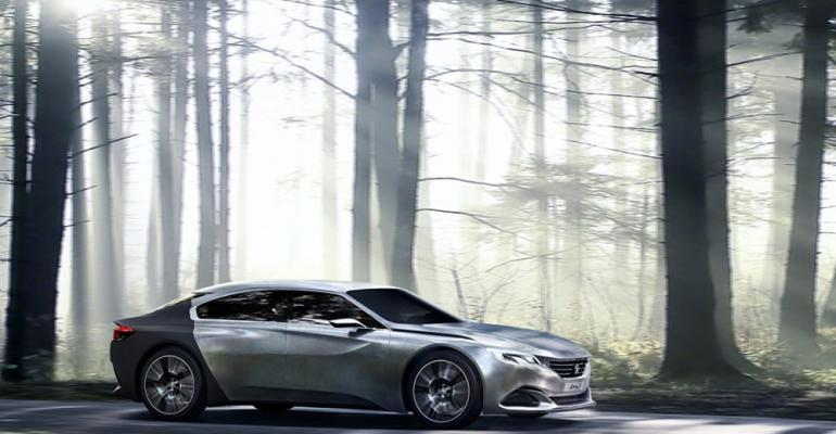 Automaker says textile covering conceptrsquos rear end improves aerodynamics