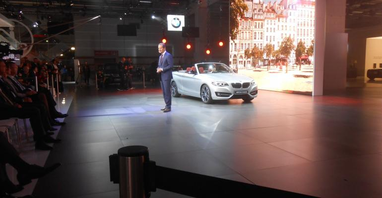 Diess introduces 2Series convertible at Paris show