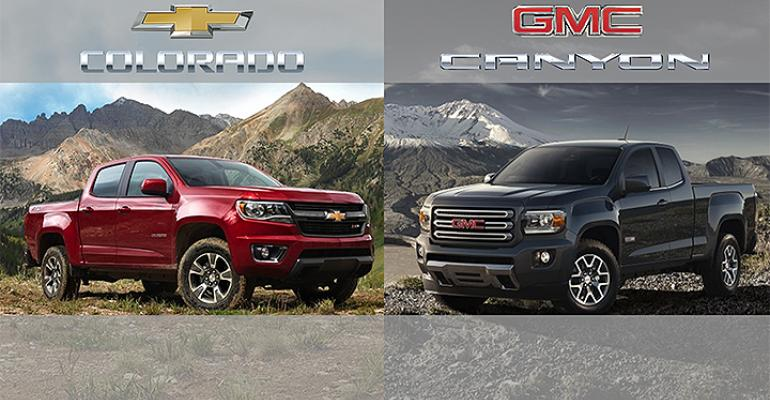 rsquo15 Chevy Colorado GMC Canyon two fists of Red Bull for moribund midsizepickup segment
