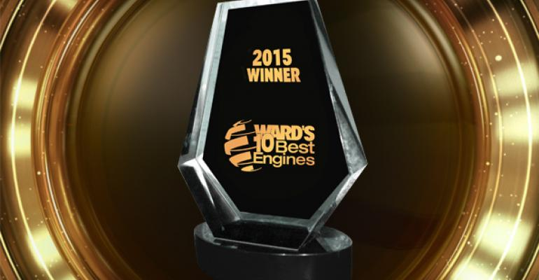 2015 Wardrsquos 10 Best Engines winners will receive trophies at ceremony during Detroit auto show