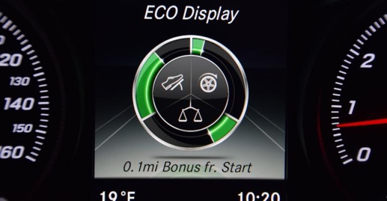 Mercedes C400 with 329hp 30L biturbo V6 coaches efficient driving