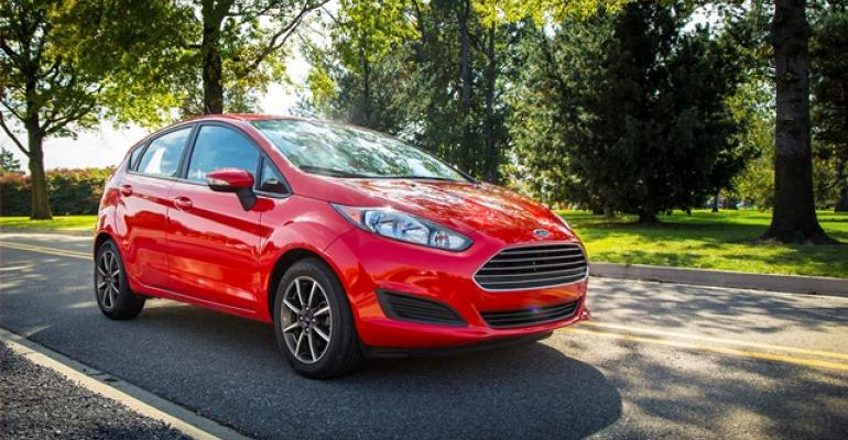Subcompact cars such as Ford Fiesta coveted by young buyers