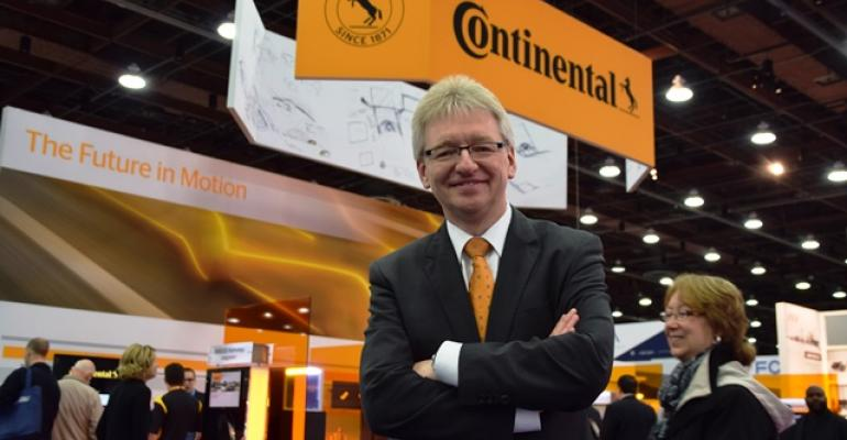 Helmut Matschi executive board member of auto supplier Continentalrsquos Interior Div gives optimistic view of future of mobility during keynote address Thursday at  SAE World Congress