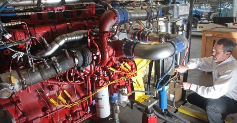Southwest Research runs tests on sparkignited naturalgas Cummins engine modified to operate with cooled EGR