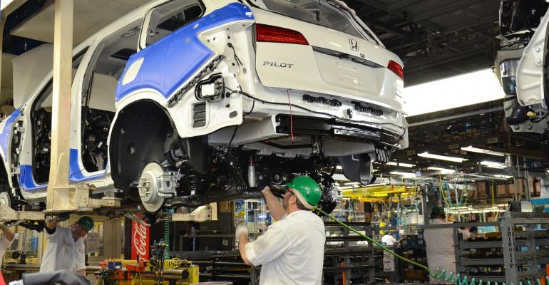 Lincoln has straighttime capacity for 120000 Pilots but Honda expects to exceed that mark