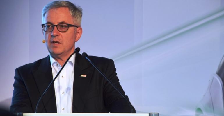 Bosch Board Member Rolf Bulander speaks at press briefing this week in Germany
