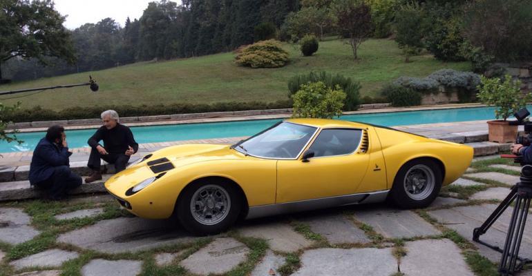 Marcello Gambini right designed Lamborghini Miura for Bertone