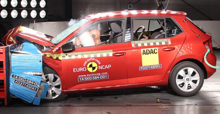 AEBequipped Skoda Fabia toprated by regional safety group