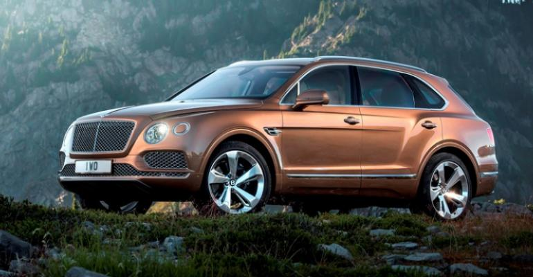 Bentayga customers will begin taking delivery early next year