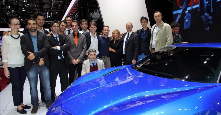 Perini fourth from right headed Lamborghini design from 2006