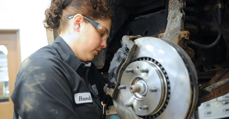 Scholarship recipient Randigale Smith took auto technology courses at Illinois Central College