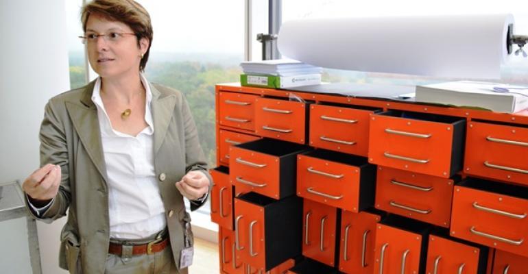 Boschrsquos Birgit Thoben explains how Platform 12 visitors use materials found inside ldquoflight data recorderrdquo drawers