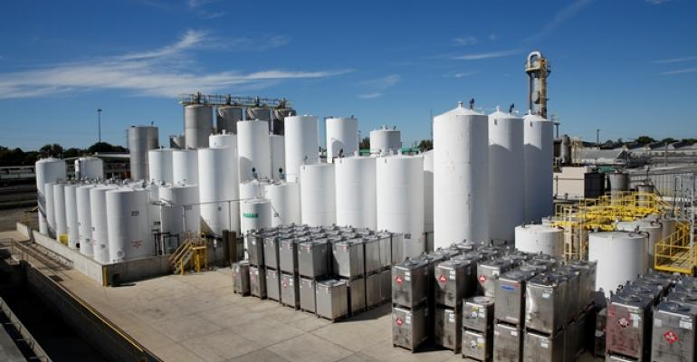 Solvent storage tanks at Gage Products