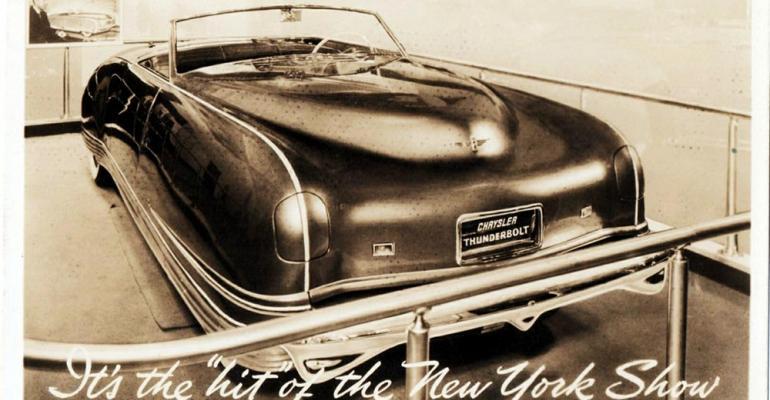 rsquo41 Chrysler Thunderbolt concept car
