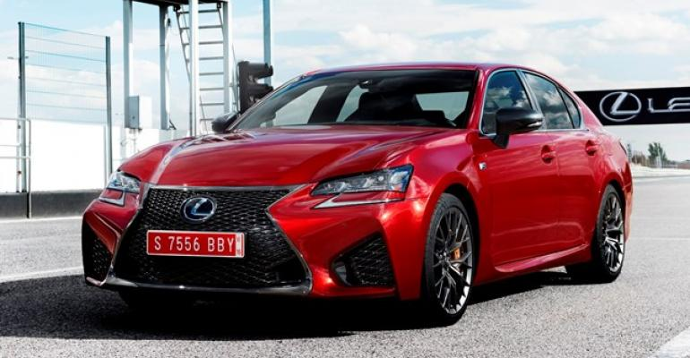 New Lexus GS F sedan bears same 467hp 50L V8 as RC F coupe but is 47 ins Longer