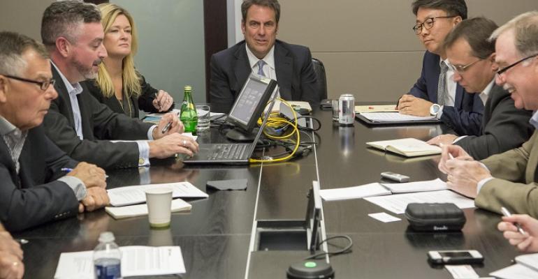 Mark Reuss center and Pam Fletcher preside over GMLG Bolt announcement
