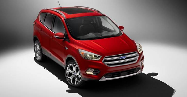 Wider frontend design gives rsquo17 Ford Escape a more rugged stance
