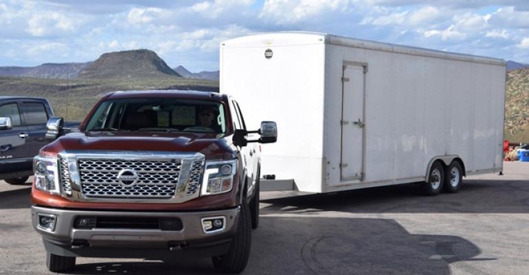 Nissan Titan XD ready to tow 9000 lbs during Arizona test drive