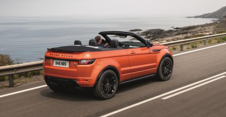 Range Roverrsquos luxury CUV Evoque convertible debuts at Los Angeles auto show
