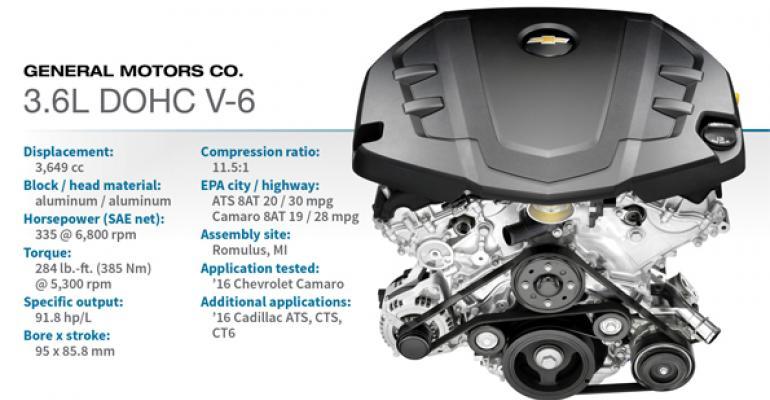 2016 Winner: General Motors 3.6L DOHC V-6