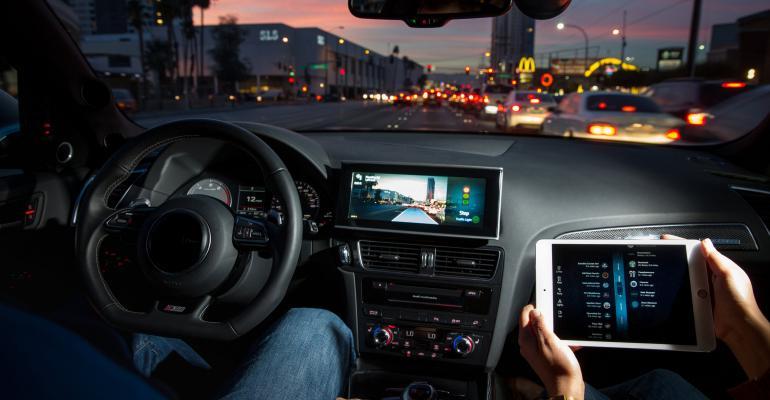 Delphirsquos newgen autonomous car communicates with stoplights