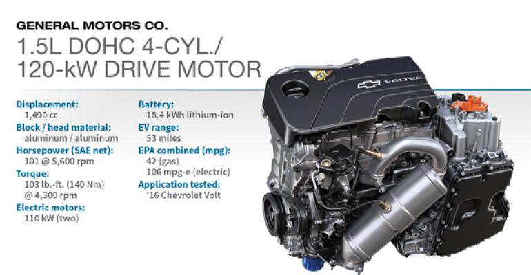2016 Winner: GM 1.5L DOHC 4-cyl./120-kW Drive Motor