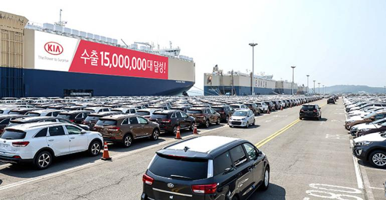 Kia exported 15 millionth vehicle from Korea as talks began in June