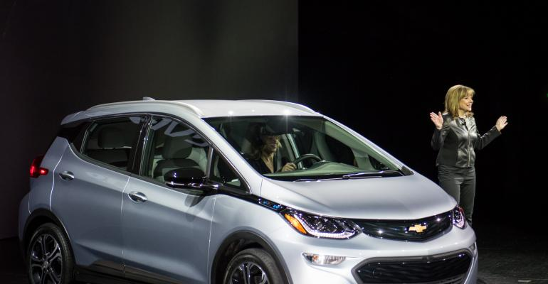 Barra unveils Chevy Bolt production model