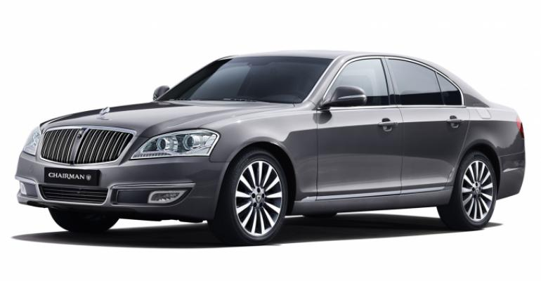 Ssangyong has registered the name Chairman Kaiser with Korean patent office It is to be applied to successor of current Chairman W luxury sedan pictured above