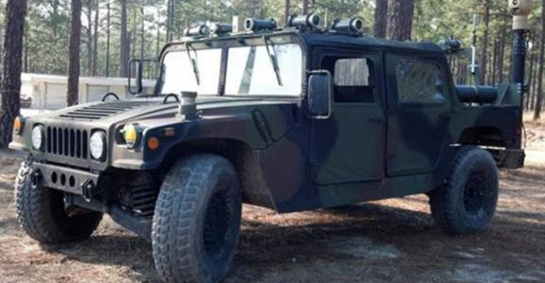 DSAT Dismounted Soldier Autonomy Tools mounted on HMMWV otherwise known as Humvee