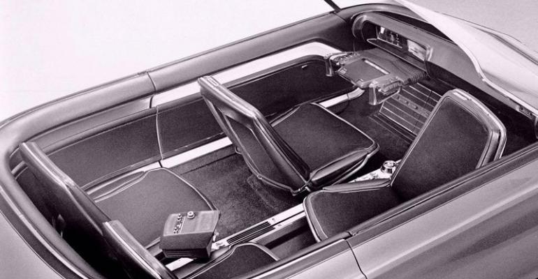 Advanced interior of 1966 Chrysler 300 X concept car