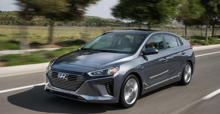 Ioniq available with hybrid plugin hybrid or electric powertrain