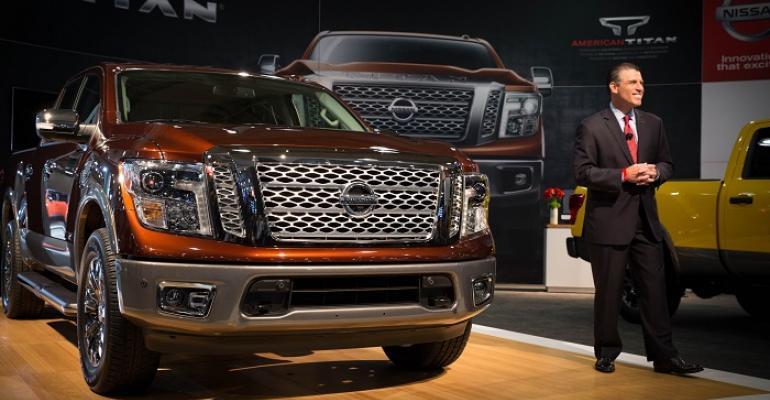 Nissan39s Fred Diaz unveils Titan crew cab halfton at New York International Auto Show