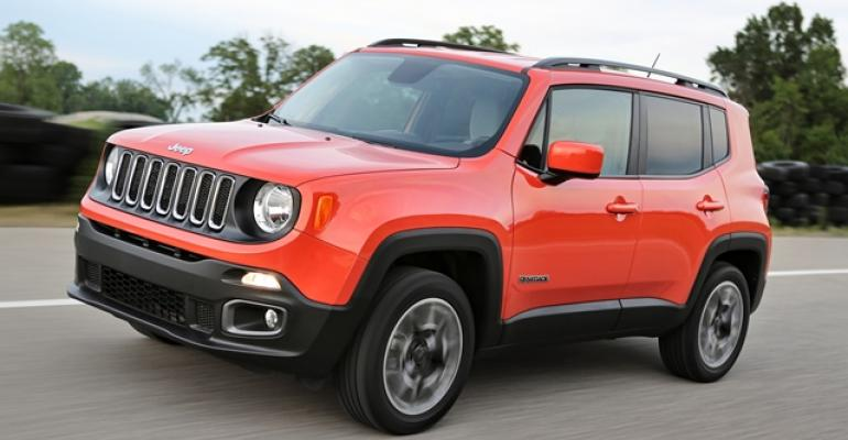 FCA sold nearly 9000 Jeep Renegades in March