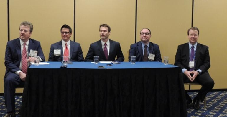 VW dealers at press conference from left Dennis Gaudet Alan Brown Jason Kuhn Michael Difeo and Doug Miles