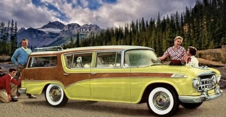 3956 Rambler wagon sets crosscountry MPG record