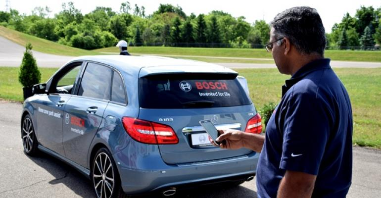 Boschrsquos Nitin Thomas demonstrates Home Zone Park Assist onboard Mercedes BClass