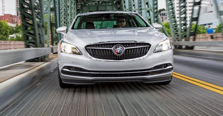 LaCrosse sports Buickrsquos bold new winged trishield grille from Avenir concept