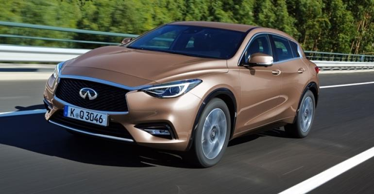 Cosmetically Infiniti QX30 stands on its own